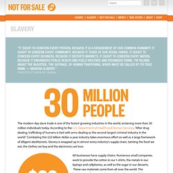 Slavery – Not For Sale: End Human Trafficking and Slavery