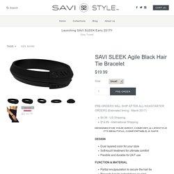 SAVI SLEEK Agile Black Hair Tie Bracelet – SAVI STYLE