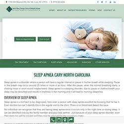Sleep Apnea treatment in Cary North Carolina