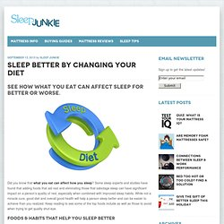 Sleep Better by Changing Your Diet