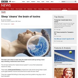 Sleep 'cleans' the brain of toxins