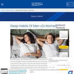 Sleep Habits Of Men v/s Women