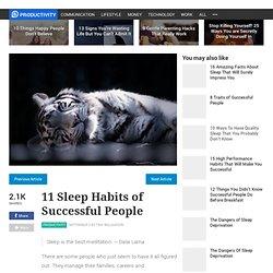11 Sleep Habits of Successful People