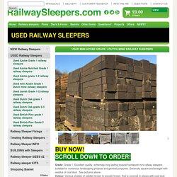Used Azobe Railway Sleepers from Railwaysleepers.com