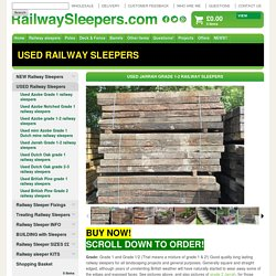 Used Grade 1 Jarrah railway sleepers- Railwaysleepers.com