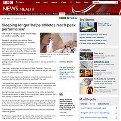 Sleeping longer 'helps athletes reach peak performance'