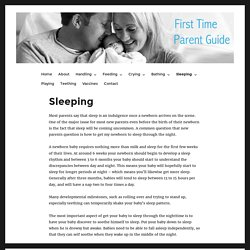 Sleeping – First Time Parent Guide