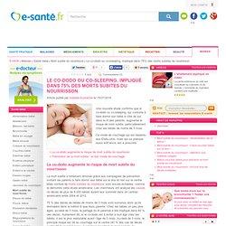 Le co-dodo ou co-sleeping, impliqué dans 75% des morts subites du nourrisson, e-sante.fr