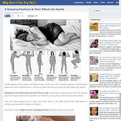 8 Sleeping Positions & Their Effects On Health