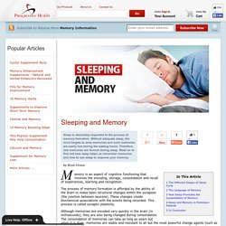 Sleeping and Memory