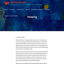 """Sleeping"" by Katharine Weber"