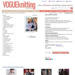 BELL SLEEVE JACKET Vogue Knitting Holiday 2006 #15