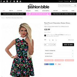 Petal Punch Sleeveless Skater Dress - from The Fashion Bible UK