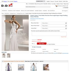 Sheath/ Column V-Neck Halter Sleeveless Floor-Length Empire Simple Wedding Dresses With Bow