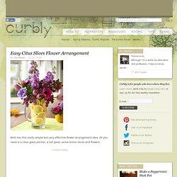 Easy Citus Slices Flower Arrangement