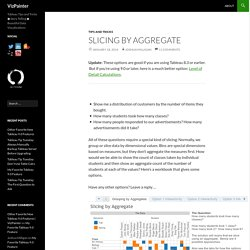 Slicing by Aggregate
