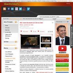 Slid: creare documenti con note sui video