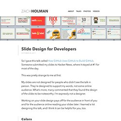 Slide Design for Developers