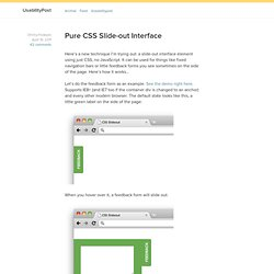 Pure CSS Slide-out Interface