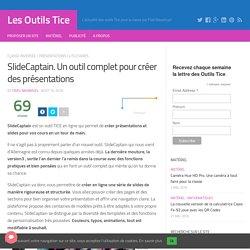 SlideCaptain. Un outil complet pour créer des présentations – Les Outils Tice