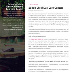 Slidell Child Day Care Centers