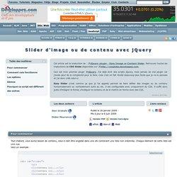 Slider d'image ou de contenu avec jQuery