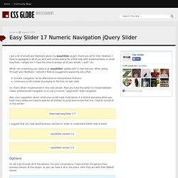 Easy Slider 17 Numeric Navigation jQuery Slider