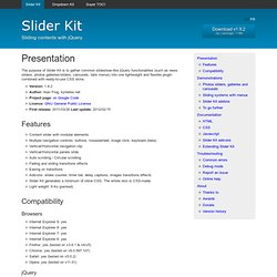 Slider Kit, sliding contents with jQuery