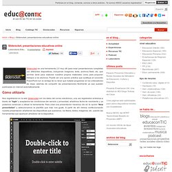 Sliderocket, presentaciones educativas online