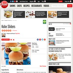 Kobe Sliders Recipe : Guy Fieri