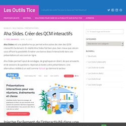 Aha Slides. Créer des QCM interactifs
