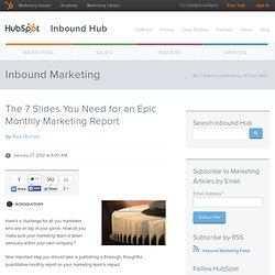 The 7 Slides You Need for an Epic Monthly Marketing Report