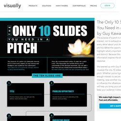 The Only 10 Slides You Need in a Pitch by Guy Kawasaki