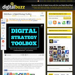 SlideShare: A Digital Strategy Toolbox