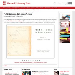 University Press - Field Notes on Science and Nature