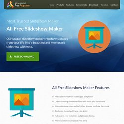 All Free Slideshow Maker - Free Slideshow Maker to Create Slideshow form Your Image Collections