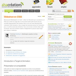 Slideshow en CSS3 - Alsacréations