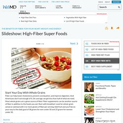 Slideshow: High-Fiber Super Foods: Whole Grains, Fruits, & More