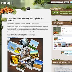 Free Slideshow, Gallery And Lightboxes Scripts