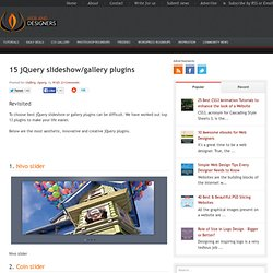 15 jQuery slideshow/gallery plugins | Web and designers | Helpin