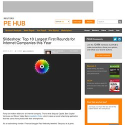 Slideshow: Top 10 Largest First Rounds for Internet Companies this Year