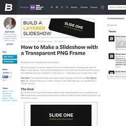 How to Make a Slideshow with a Transparent PNG Frame