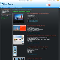 Diaporamas pour blogs, différents modèles pour blogs et sites web - Diaporamas photo gratuits et personnalisables pour les blogs
