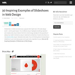 30 Inspiring Examples of Slideshows in Web Design