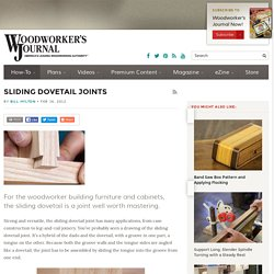 What is a Sliding Dovetail Joint?