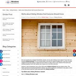 Myths about Sliding Window that Everyone Should Know