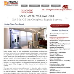 Sliding Door Repair Experts