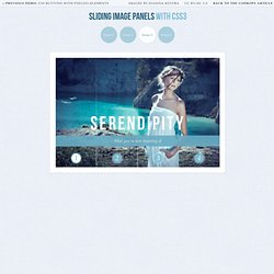 Sliding Image Panels with CSS3