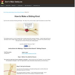 Sliding Knot Instructions