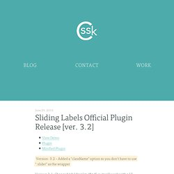 Sliding Labels Official Plugin Release [ver. 3.2] · CSSKarma
